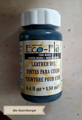 Eco-Flo Leather Dye Coal black schwarz - Bild vergrößern