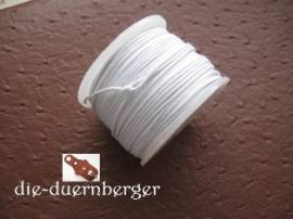 Baumwollkordel weiß gewachst rund 50m - Bild vergrößern