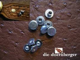 Buchschrauben Chicagoschrauben 4mm / Kopf 7 mm Fb. silbern - Bild vergrößern