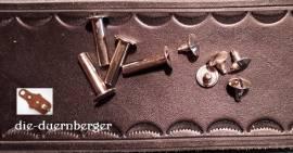 Buchschrauben Chicagoschrauben 20mm / Kopf 10 mm Fb. silbern - Bild vergrößern