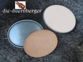 Buckle blank Rope Leder-Inlay oval - Bild vergrößern