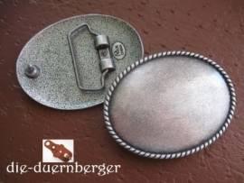 Buckle blank Rope oval, altsilber - Bild vergrößern