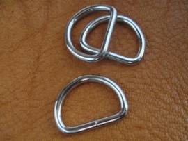 D-Ring 22 x 16 x 3,2 mm Farbe silber - Bild vergrößern