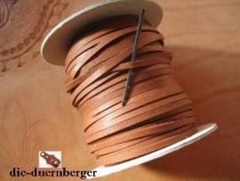 Flechtriemen / Lederband 3mm cognac/ocker / 5m <--Flechtband//--> - Bild vergrößern