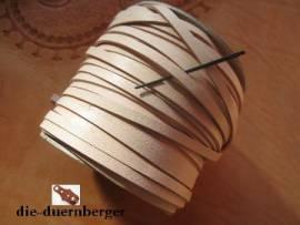 Flechtriemen / Lederband 5mm natur / 5m <--Flechtband//--> - Bild vergrößern