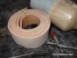 Gürtelrohling Gürtelriemen 3,0 - 4,0 mm - Bild vergrößern