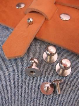 Knopfniete 10x7 mm silber mit Schraube - Produktbild