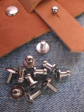 Knopfniete 8x5 mm silber mit Schraube - Produktbild