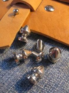 Knopfniete kegelförmig 8x12 mm silber mit Schraube - Produktbild