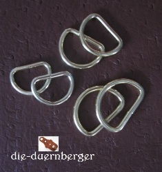 D-Ring 22 x 16 x 3,2 mm vermessingt