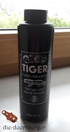 Lederfarbe TIGER Leder-Schwärze 250ml