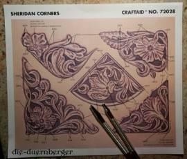 72028 Craftaid Sheridan Corners Ecken Floral - Bild vergrößern