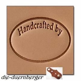 Punzierstempel -Handcrafted by- oval - Bild vergrößern