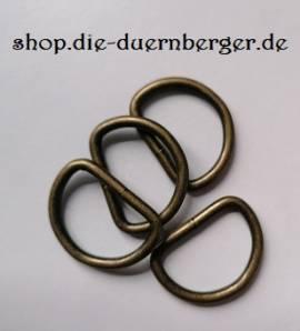 D-Ring 25 x 18 x 3,4 mm altmessing - Bild vergrößern