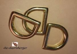 D-Ring 20 x 15 x 3 mm REIN messing - Bild vergrößern