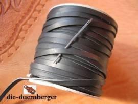 Flechtriemen / Lederband 5mm braun / 5m <--Flechtband//--> - Bild vergrößern