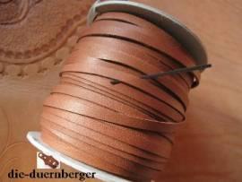 Flechtriemen / Lederband 5mm cognac/ocker / 5m <--Flechtband//--> - Bild vergrößern