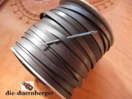 Flechtriemen / Lederband 5mm schwarz / 5m <--Flechtband//--> - Bild vergrößern