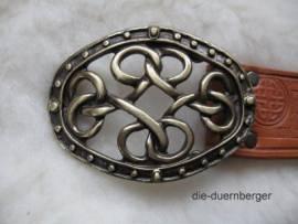Buckle Koppel Knoten oval vermessingt - Bild vergrößern