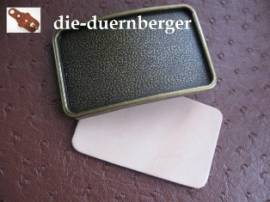Buckle blank Leder-Inlay eckig - Bild vergrößern