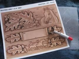 76580 Craftaid Leaves & Horse Belt & Billfold  - Bild vergrößern