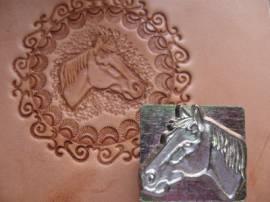 Punzierstempel Horse Head R Pferdekopf - Bild vergrößern
