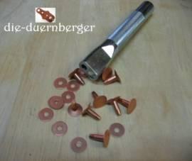 Kupferniete (Vollkupfer) mit Scheibe #9 1/2in - Bild vergrößern