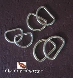 D-Ring 16 x 12 x 2,6 mm vermessingt